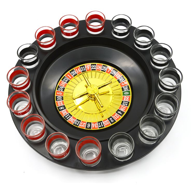 Shot Glass Roulette Wheel Fun Table Drinking Game Set with