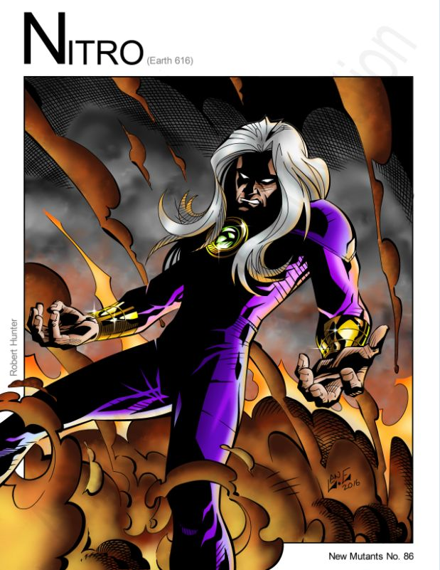 Nitro - Xsplosion Man (Marvel Comics) by Nickolas Lane