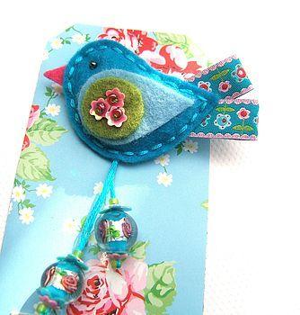 flower birdie pin by meninafeliz