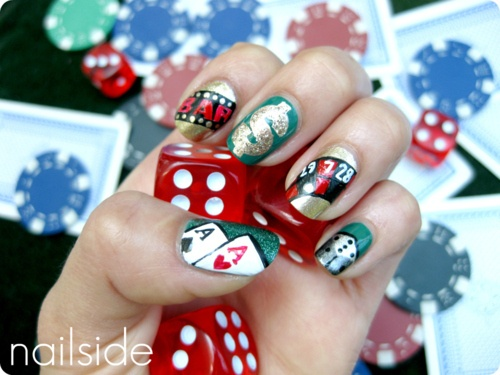 79 best las vegas casino nail art images on pinterest vegas nails did vegas style vegas nail artlas prinsesfo Images