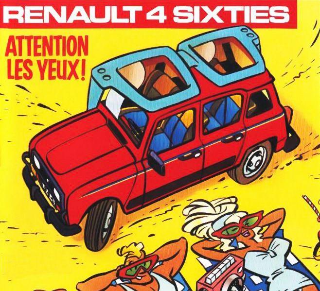 Renault Car Wallpaper: Publicité Renault 4L Sixties
