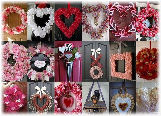 Венок на день Святого Валентина  http://styldoma.ru/sdelaj-sam/venok-na-den-svyatogo-valentina