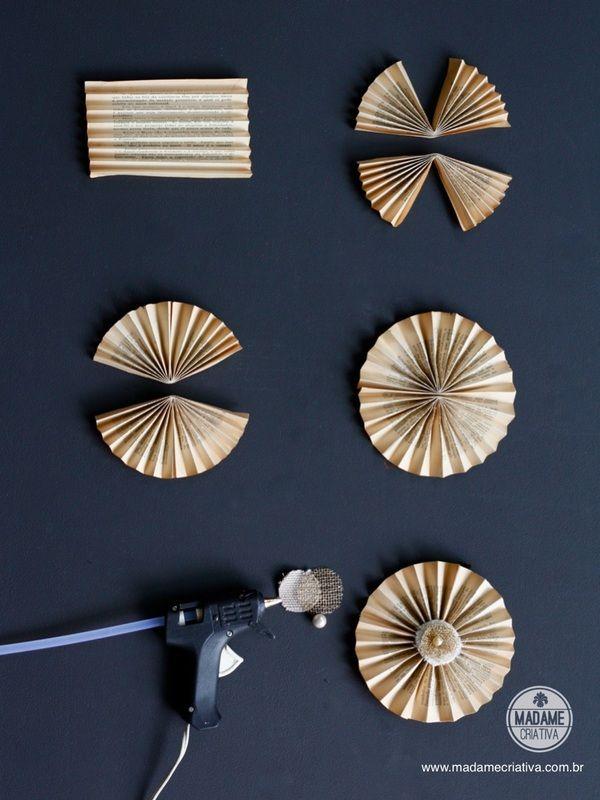 Como fazer circulo sanfonado -  Passo a passo com fotos - How make  a circle origami - DIY tutorial  - Madame Criativa - www.madamecriativa.com.br