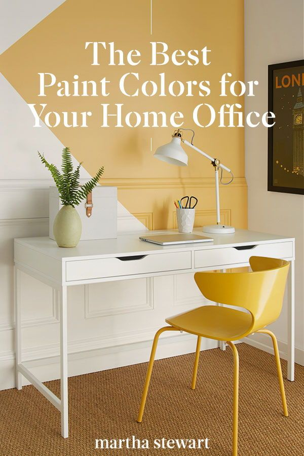 The Best Paint Colors For Your Home Office Best Office Colors Home Office Paint Ideas Office Wall Colors