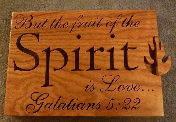 SJA Wood Design - Galatians 5:22 Sprit religious plaque, $25.00 (http://www.sjawoodesign.com/galatians-5-22-sprit-religious-plaque/)