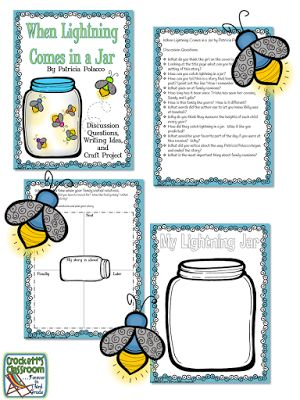 When Lightning Comes in a Jar by Patricia Polacco,  free activity for this wonderful book.