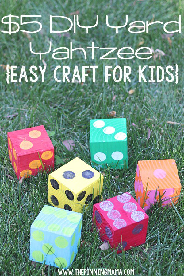These DIY Yard Dice Make Playing Games Like Yahtzee A Fun Outdoor Family  Activity For The