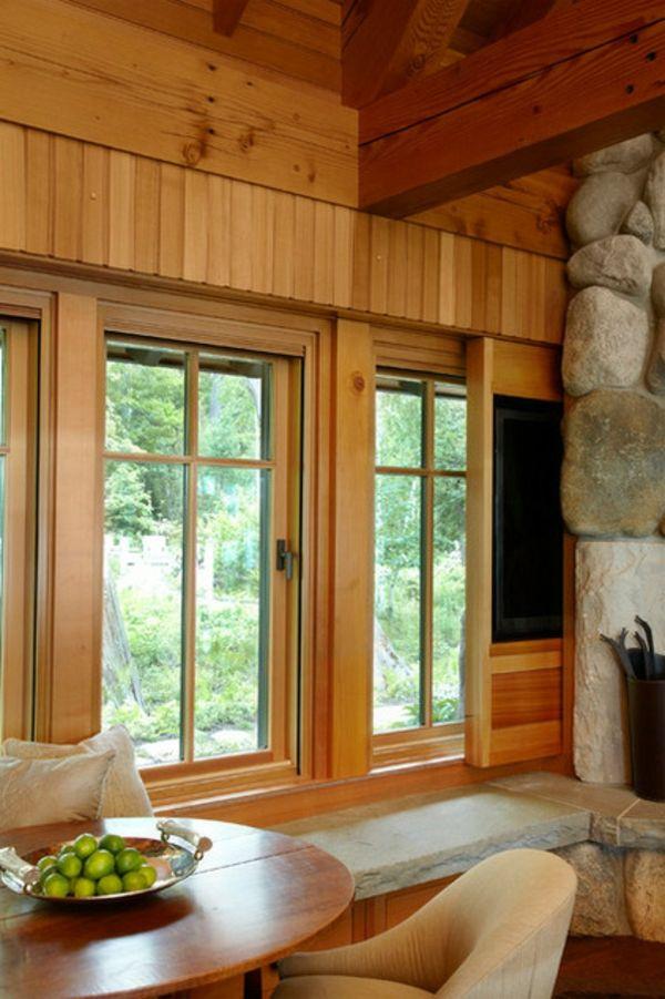 Verstecken TV Tisch Fenster Holz Idee