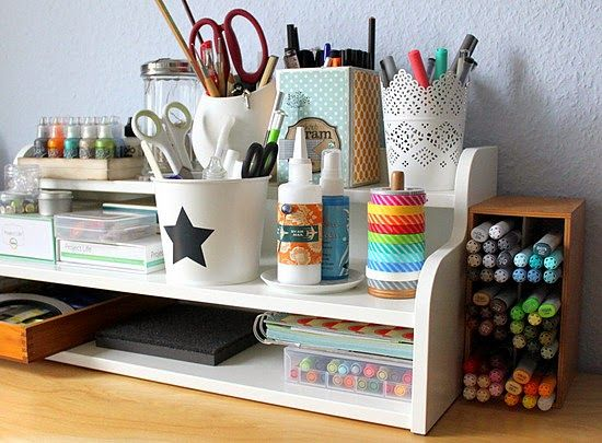 "Ikea ""Klimpen"" to organize your creation station. Office and craft supplies."