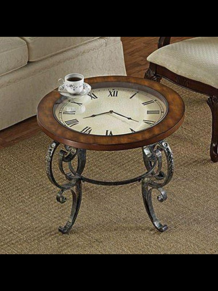 Best 20 clock table ideas on pinterest small round side for Clock coffee table round