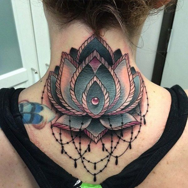 45 Cute And Sexy Neck Tattoo Designs For Girls