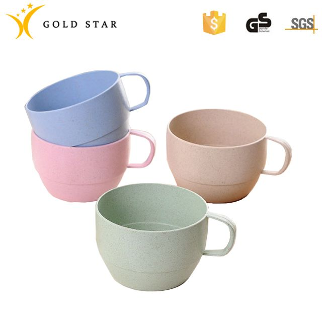 200ml Wheat Straw Round Shape Drink Water Milk Cup