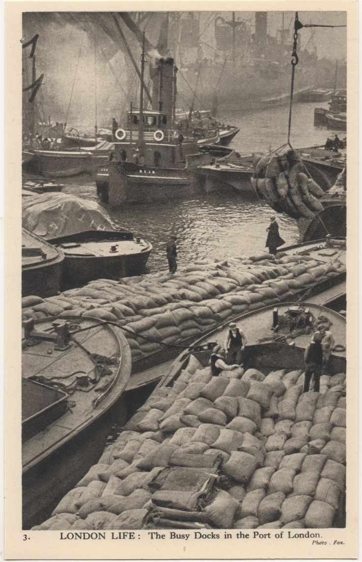 3. London Life: The Busy Docks in the Port of London 1950
