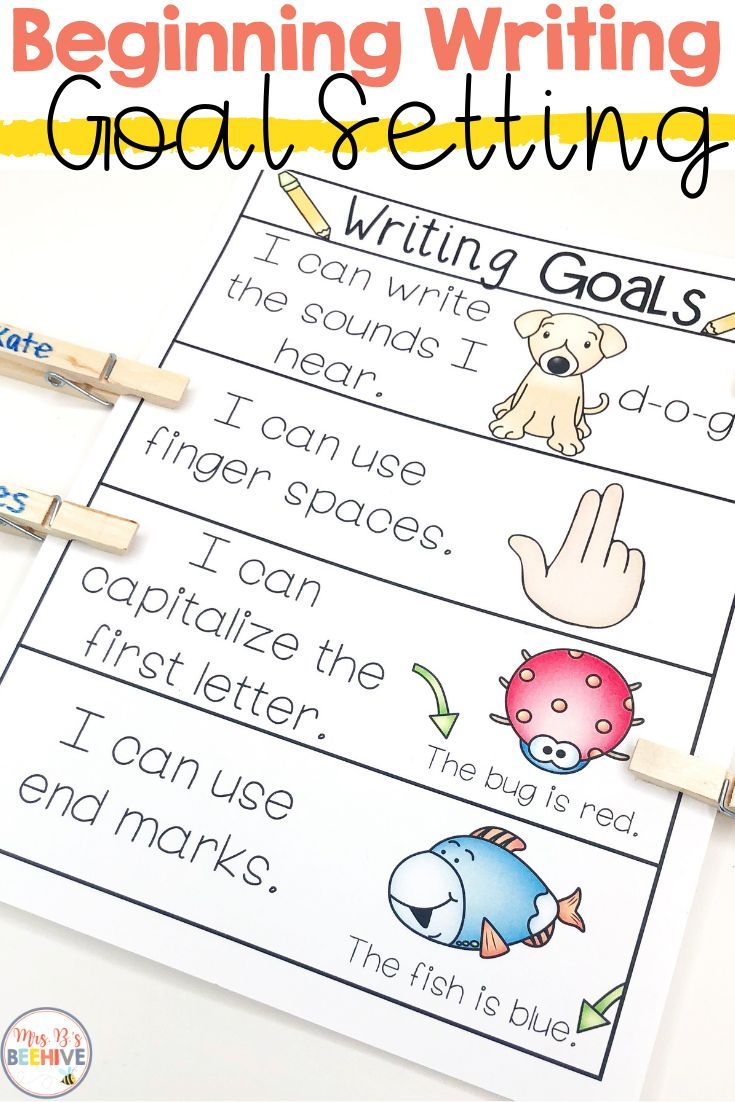 Help Scaffold Beginning Writing Skills With These Writing Goal Posters Students Will Kindergarten Writing Activities Kindergarten Writing First Grade Writing Writing skills for kindergarten