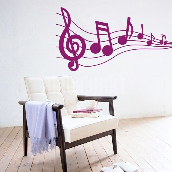 Musical Notes   Music   Wall Decals Stickers   Qxmall.com   #Qxmall # Part 98
