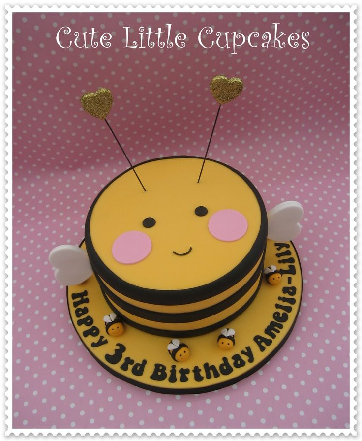Cute bumble bee cake - design credit Whipped Bakeshop x