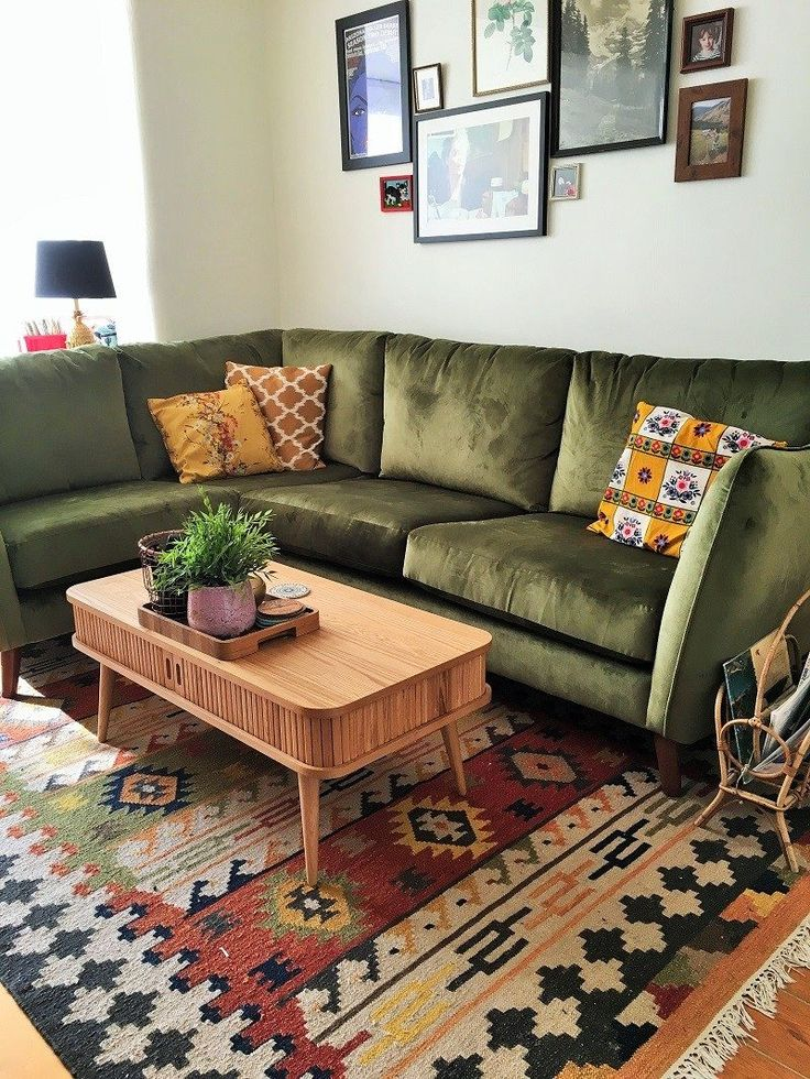 Found: The Corner Sofa Of My Dreams. Colourful Living RoomLiving Room GreenBohemian  ...