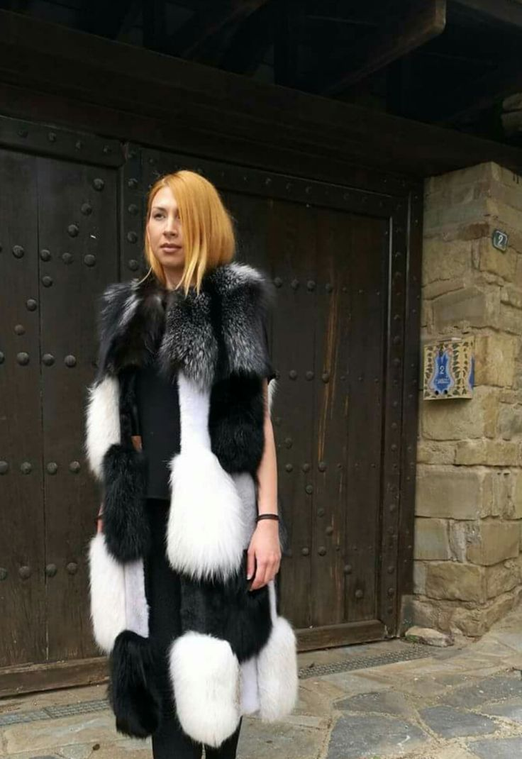 Unique fur vest mink & Fox by  ABEL FUR