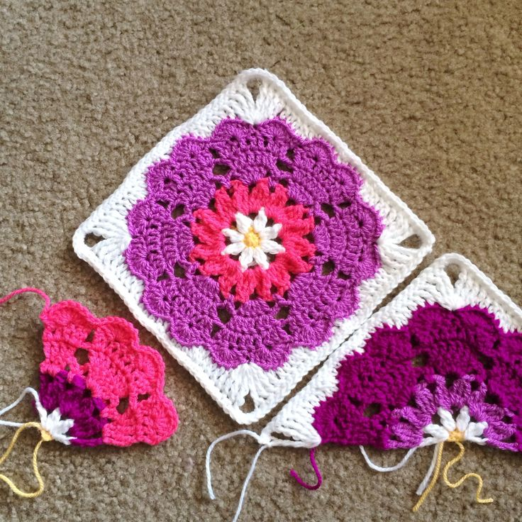 Heart Mandala ~ Quarter-Square: free #crochet #pattern