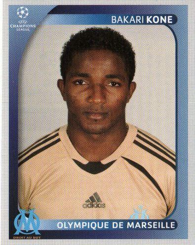 MARSEILLE - Bakari Kone 382 PANINI Champions League 2008 2009 Football Sticker