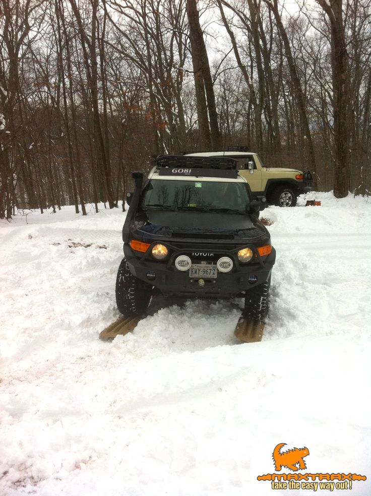 Another fan photo of a MAXTRAX snow recovery. We're glad he took the easy way out!