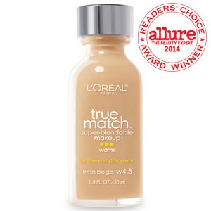 True Match Super Blendable Makeup liquid foundation with SPF sunscreen by L'Oreal Paris. Oil-free liquid foundation face makeup for full coverage & even skin tone.