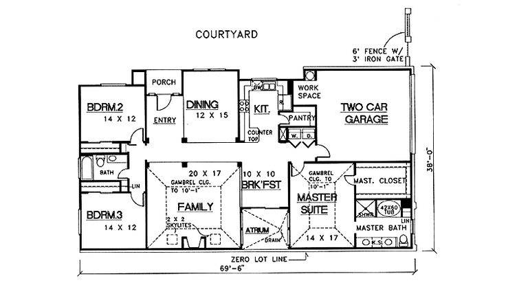 17 best images about atrium ranch homes on pinterest new for Atrium ranch floor plans