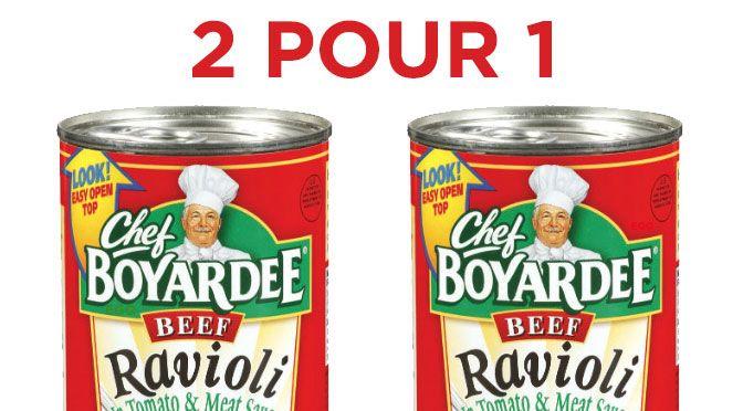 Chef Boyardee coupon rabais 2 pour 1 gratuit