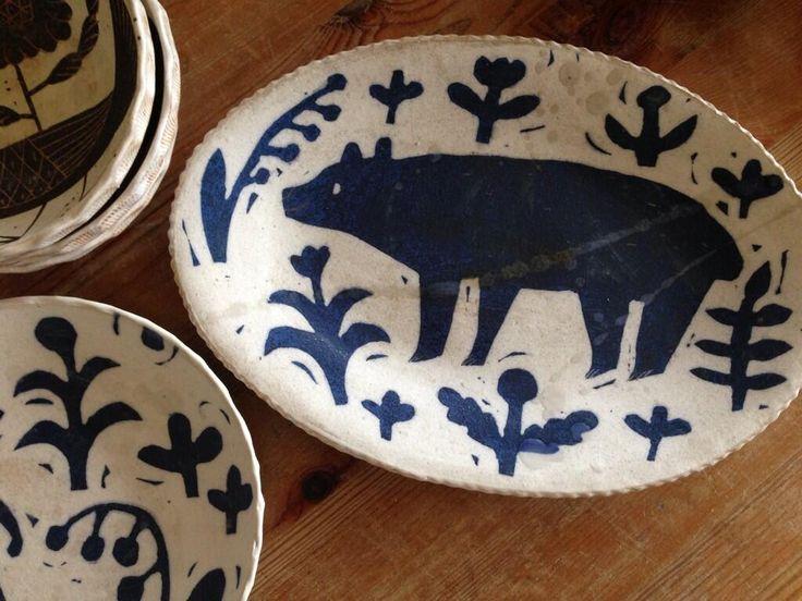 makoto Kagoshima, ceramics, bear, design, craft, illustration, print, drawing