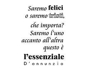 Adesivo in vinile D'Annunzio - 40x60 cm