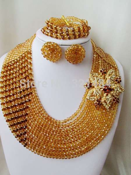 Find More Jewelry Sets Information about Champagne gold mixed brown crystal beads nigerian wedding african beads jewelry set costume jewelry set VC1064,High Quality Jewelry Sets from P&W_Jewelry Accessories Co.,Ltd. on Aliexpress.com