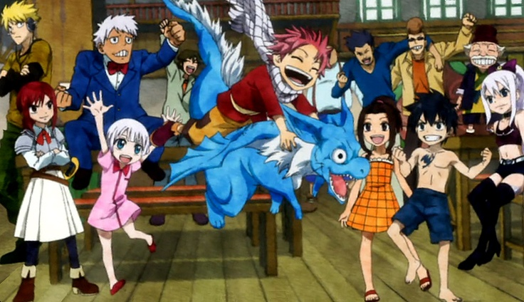 Fairy Tail guild when they were still kids! This episode makes me cry...