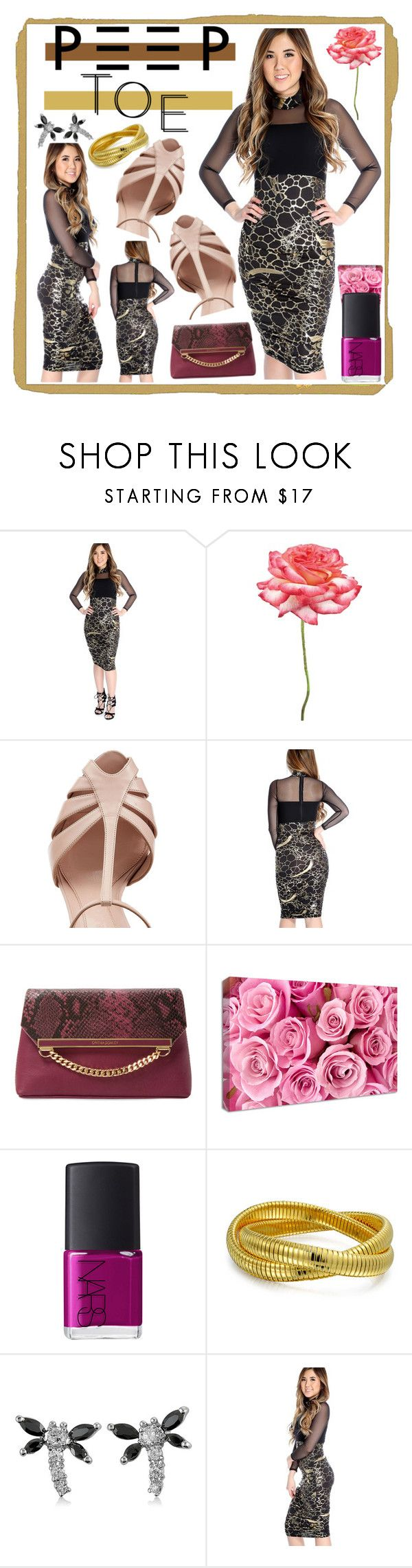 """""""Peep-Toe Pumps"""" by westcoastcharmed ❤ liked on Polyvore featuring Universal Lighting and Decor, Alexander McQueen, Cynthia Rowley, NuCasa, NARS Cosmetics, Bling Jewelry, BERRICLE and peeptoe"""