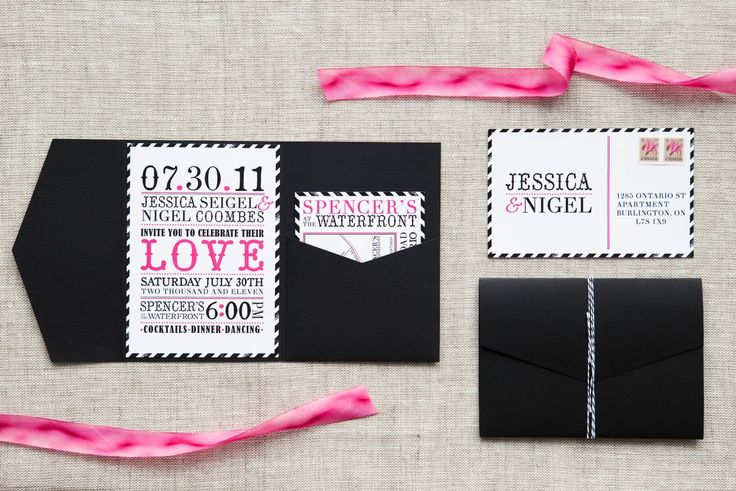 Jessica & Nigel - Paper & Poste Custom Invitation Suite