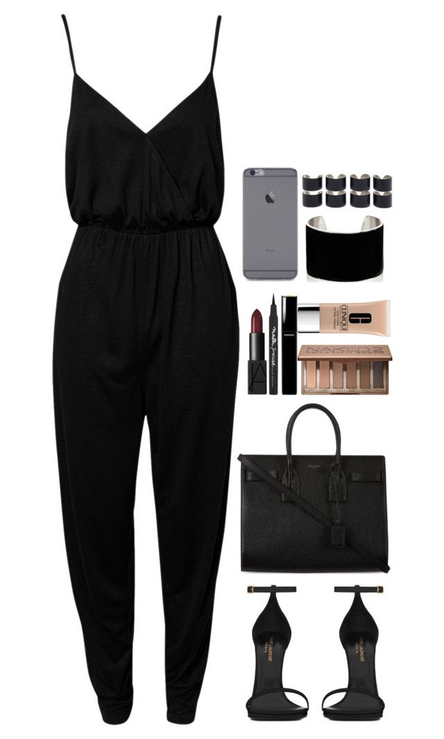 """""""Night out"""" by daisym0nste ❤ liked on Polyvore featuring NLY Trend, Yves Saint Laurent, NARS Cosmetics, Maybelline, Chanel, Urban Decay, Maison Margiela, IaM by Ileana Makri, Clinique and women's clothing"""
