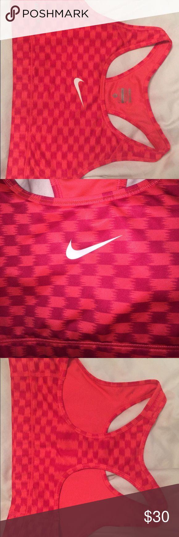 nike patterned sports bra Worn 1x perfect condition size medium Nike Intimates & Sleepwear Bras