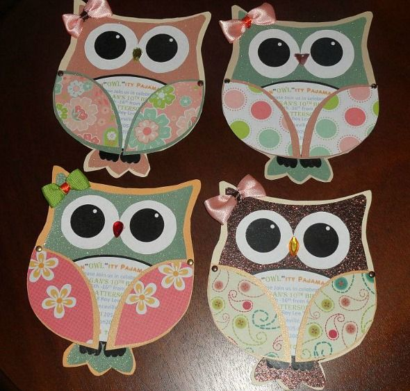 DIY Owl Party Invitations | THE ARMS SWING OPEN TO REVEAL PARTY DETAILS - GENIUS!