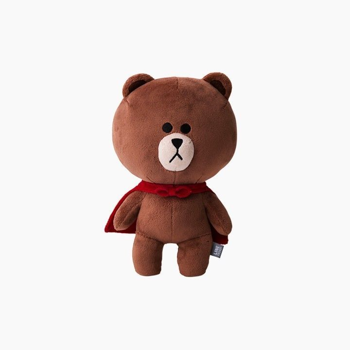 LINE FRIENDS RANGERS Character Plush Doll Toy SUPER BROWN Bear Official Goods #DollswithClothingAccessories