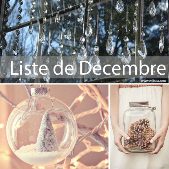 la liste de décembre pour ne rien oublier