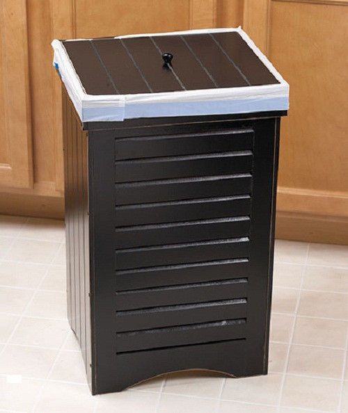 new wooden kitchen trash bin brown holds 30 gallon bag