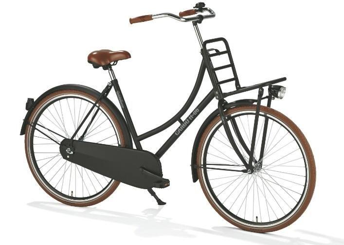 bicicleta holandesa negra