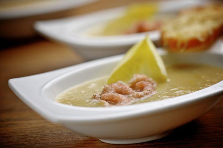 Recepten - Gegratineerde witloofsoep met grijze garnalen