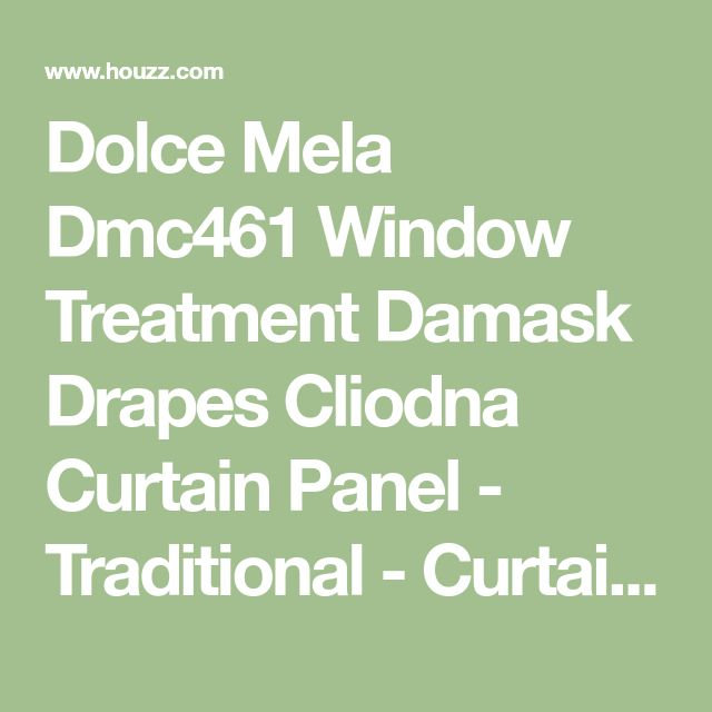Dolce Mela Dmc461 Window Treatment Damask Drapes Cliodna Curtain Panel - Traditional - Curtains - by clickhere2shop