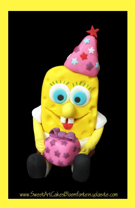 Fondant Sponge Bob (Bloemfontein cake & cupcakes)