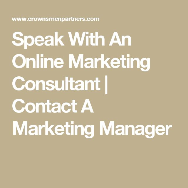 Speak With An Online Marketing Consultant | Contact A Marketing Manager