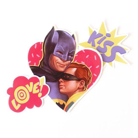 Nananana Batman & Robin stickers  set de 3 bat-pegatinas