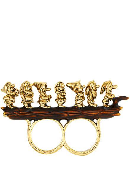 Seven Dwarfs Two Finger Ring - so funny!