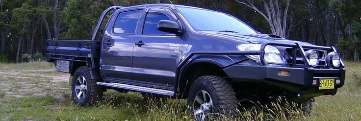Toyota Hilux steel ute tray body from Taurus Trays in Mudgee, NSW.