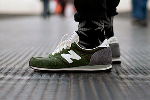 Olive New Balance - nice retro style trainers.