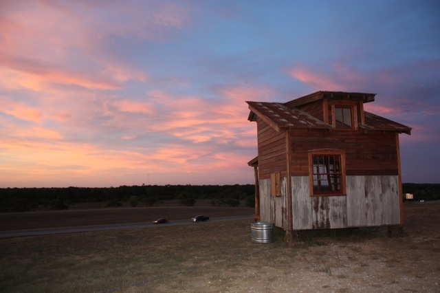 Essay house rear sunset view tiny house iders pinterest